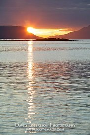 Image - Sunset between Rum and Eigg from near Arisaig, Morar, Scotland