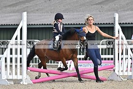 Stapleford Abbotts. United Kingdom. 05 August 2020. Class 1. Wednesday night unaffiliated showjumping. MANDATORY Credit Garry...