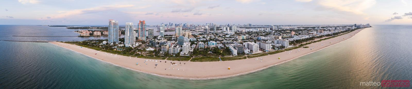 High resolution panorama of South beach, Miami, Florida
