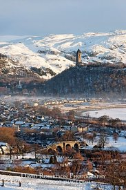 Wallace Monument and Stirling Bridge, Stirling Cityscape