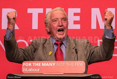 England, UK . 25.9.2017. Brighton. Labour Party Conference Monday. Dennis Skinner..