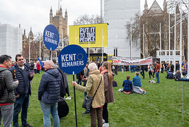 #124556,  Anti-Brexit march to Parliament Square, London, 23rd March 2019.  A million people of all ages marched demanding a ...