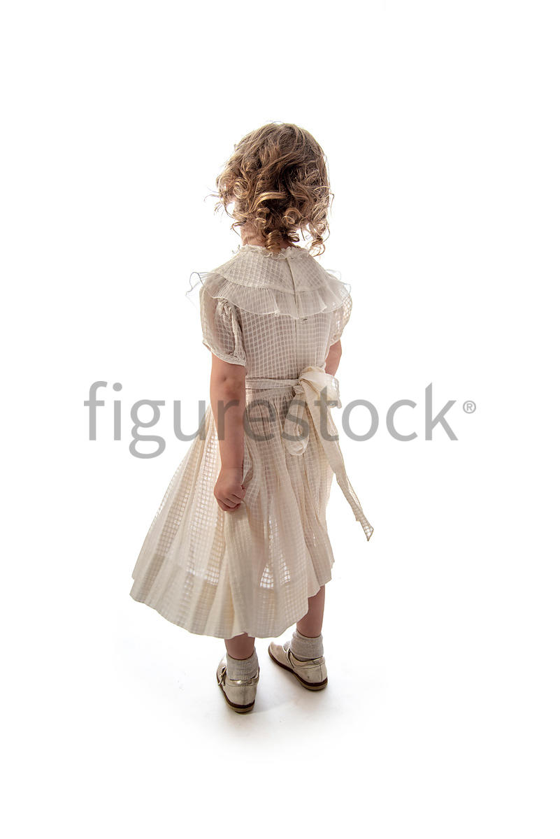 A litle girl in a dress – shot from mid level.