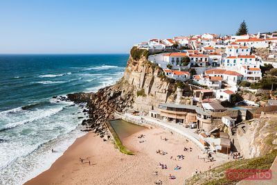 Azenhas do Mar town on the atlantic ocean, Portugal