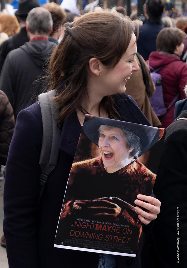 #124596,  Anti-Brexit march to Parliament Square, London, 23rd March 2019.  A million people of all ages marched demanding a ...