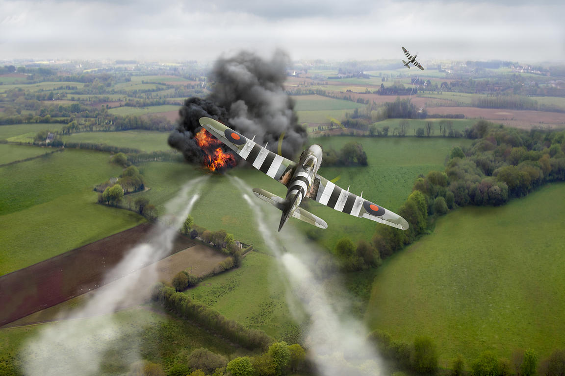 Hawker Typhoon rocket attack