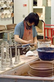 #050022,  Potter at work, the University for the Creative Arts, Farnham.