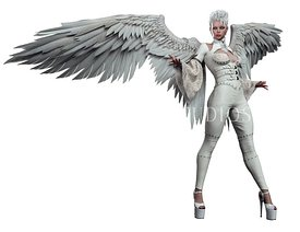 Angel in White Leather