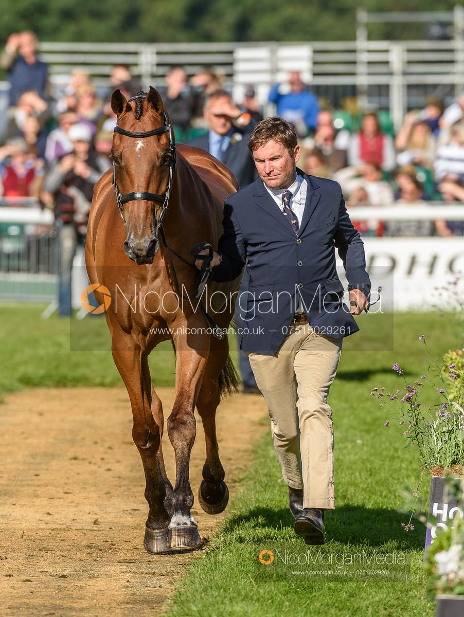 Phillip Dutton and FERNHILL FUGITIVE - Final Horse Inspection  -  Land Rover Burghley Horse Trials 2016