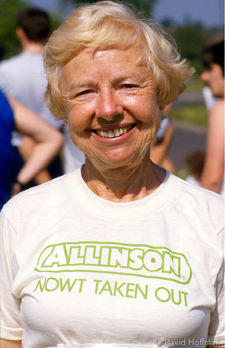 6.413/4 Madge Sharples, aka Marathon Madge, continued running and raising money for charity in her seventies even after havin...