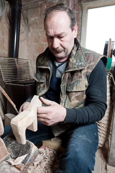 Making traditional wooden toys in Northern Croatia