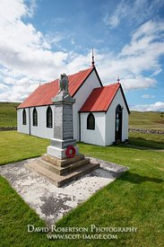 Image - War Memorial beside Syre Church, Strathnaver, Sutherland, Scotland