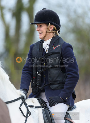 Victoria Ferguson at the meet. The Belvoir Hunt at Long Clawson 21/1