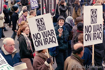 Stop the War march in protest against the forthcoming war on Iraq. The largest march ever seen in London with estimated numbe...