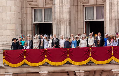 Camilla Duchess of Cornwall, Princess Catherine and Prince Andrew head up the Royal Family's first  Balcony Appearance after ...