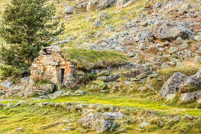 Stone Shelter - Pyrenees Mountains