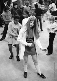 #74694,  Anna Scher Children's Theatre, Bentham Court Hall, Islington, North London 1972.  Kids would come after school and b...