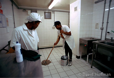 Cleaning Jail Kitchen