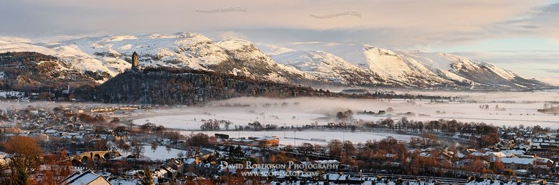 Image - Wallace Monument and Stirling Bridge, Stirling Panoramic Cityscape