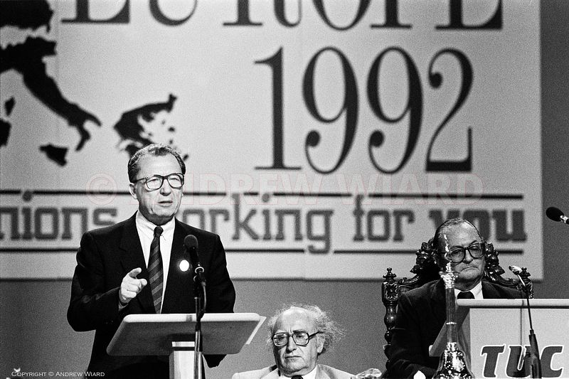 England, UK. 8.9.1988. Bournemouth. Jacques Delors, the President of the European Commission and a former leader of the Frenc...