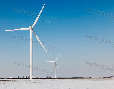 Windturbines in winter