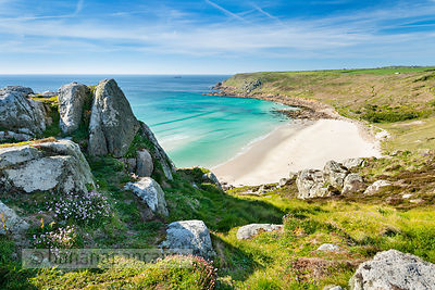 Gwynver (Gwenver) Beach, near Sennen, Cornwall - BP6733
