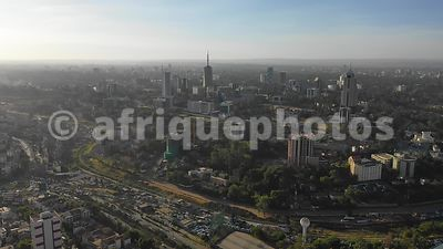 Nairobi from above, drone view