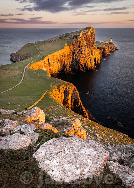 Beautiful scenery of dramatic Scottish coastline.