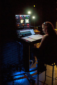 #72285,  Stage Manager, Dress Rehearsal for Shakespeare's, 'Macbeth', Rose Bruford College, Sidcup, Kent.
