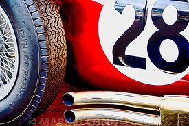 art,painting,airbrush,formula 1,racing car,classic,dunlop,tyres,exhaust,abstract