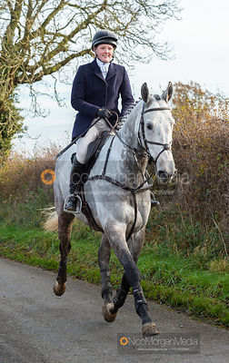 Meghan Healy on Owston Road - The Cottesmore Hunt at Owston 19/11