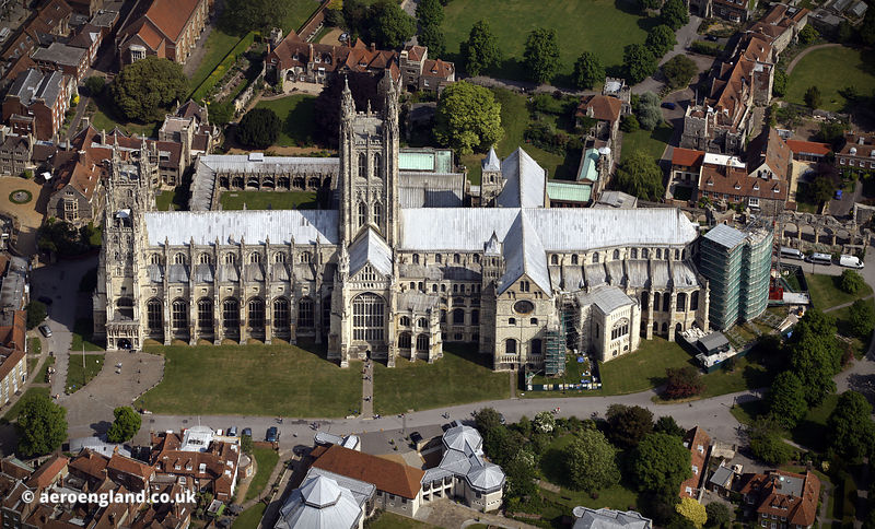 Canterbury Cathedral aerial photograph