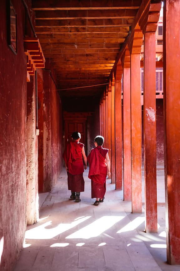 Walking in the Monastery