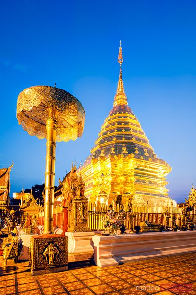 Wat Phra That Doi Suthep at dawn, Chiang Mai, Thailand
