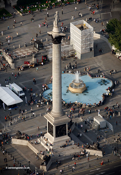 Nelson's Column Trafalgar Square from the air