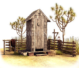Old West Outhouse