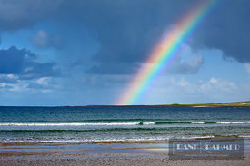 Ocean coast with rainbow - Europe, Ireland, Donegal, Fanad, Rinboy, Ballyhiernan Bay - digital