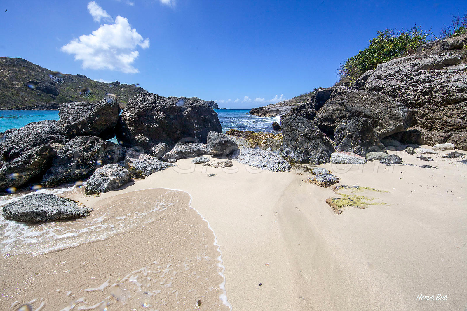 Saint-Barthélemy sandy beach