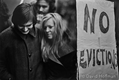Bsq11-2A Parfett Street Eviction 1973 March on Tower Hamlets council in protest against the eviction of squatters from privat...
