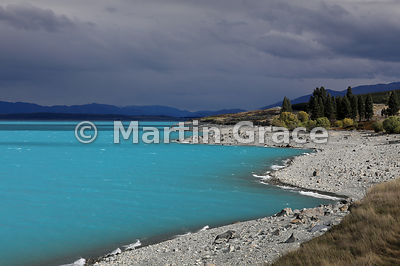 Lake Pukaki looking south, Canterbury, South Island, New Zealand: yes it did look like this!