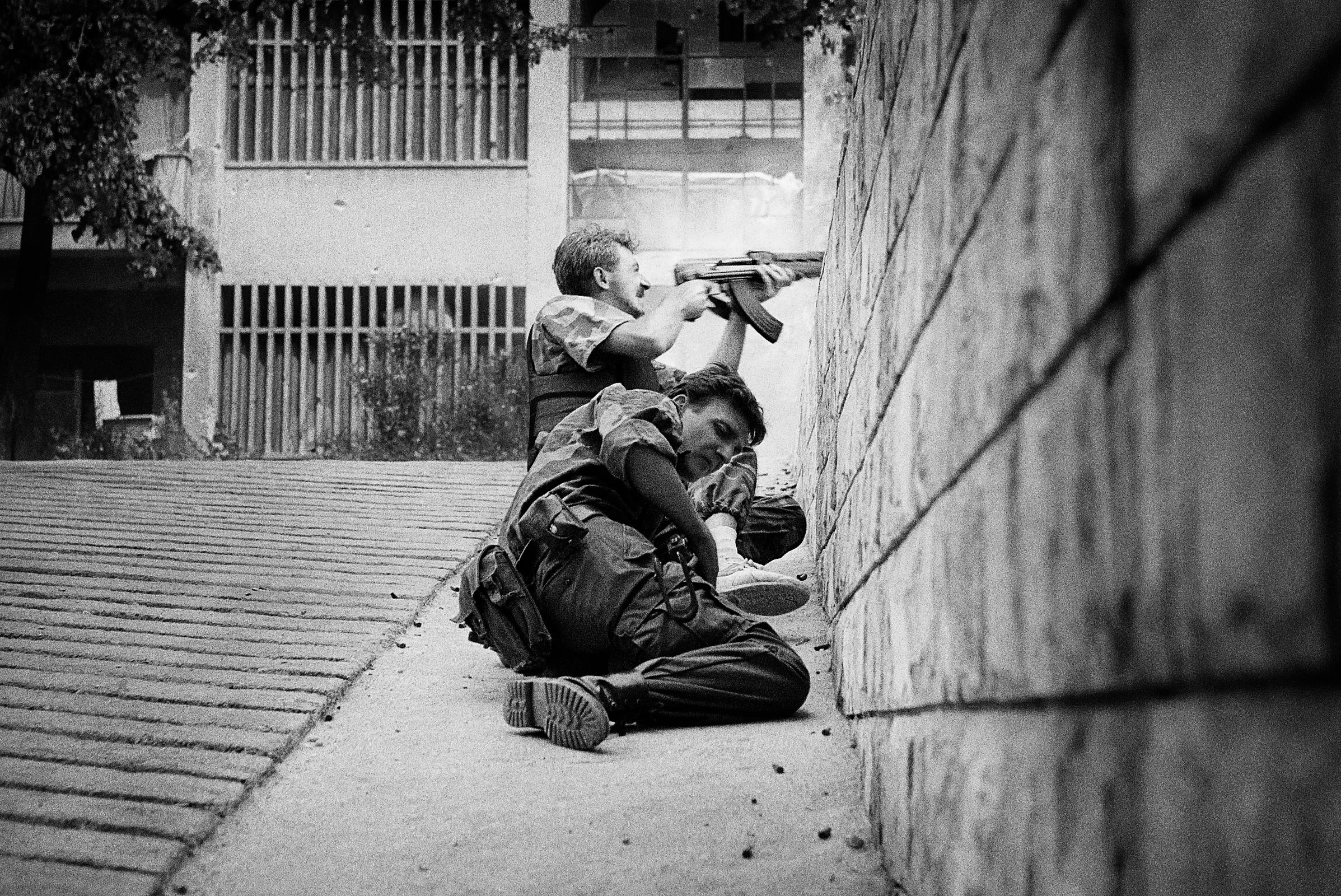Mostar, Bosnian war, June 1993.