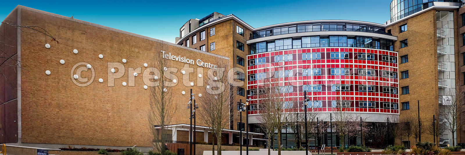 The re-opened Television Centre in West London, now home to domestic apartments and is the spiritual home to BBC Television