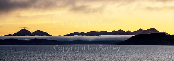 Mist shrouds the Cuillin Mountains