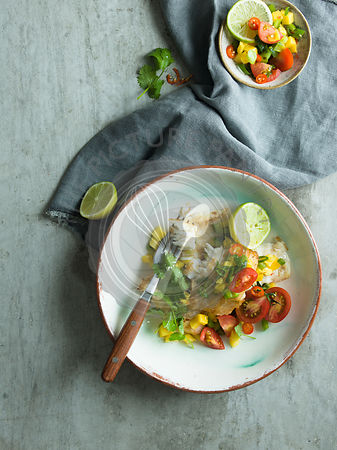 Grilled Fish with salsa.