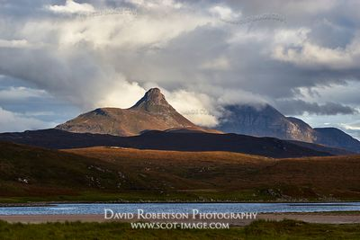 Image - Stac Pollaidh and Cul Beag, Inverpolly.  Viewed from Achnahaird Bay, Wester Ross, Highland, Scotland
