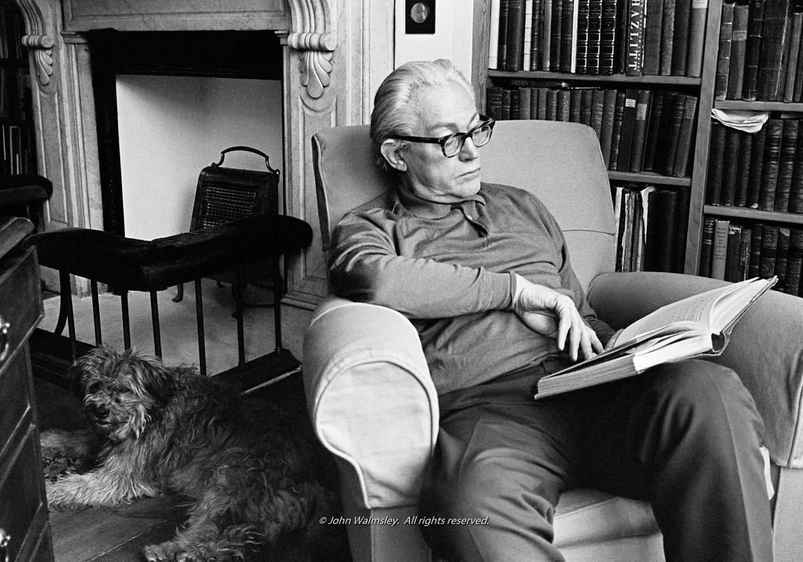 #71433  Michael Foot, politician and one-time Leader of the Labour Party, at home in Hampstead, London.  1975.