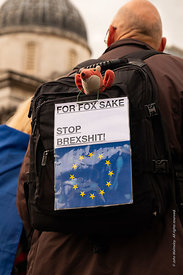 #124610,  Anti-Brexit march to Parliament Square, London, 23rd March 2019.  A million people of all ages marched demanding a ...