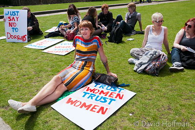 110709 Pro Choice 056 Pro-choice Protest organised by Swansea Feminist Network.Old Palace Yard, Westminster, 9 Jul 2011.