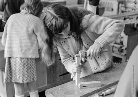 #83645,  Woodwork class, Whitworth Comprehensive School, Whitworth, Lancashire.  1970.  Shot for the book, 'Family and School...