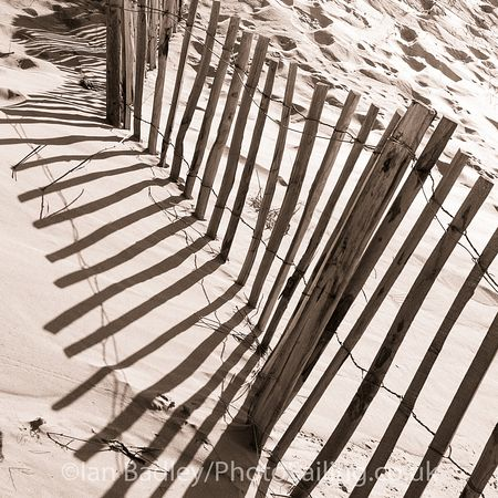 Fence in the sand dunes